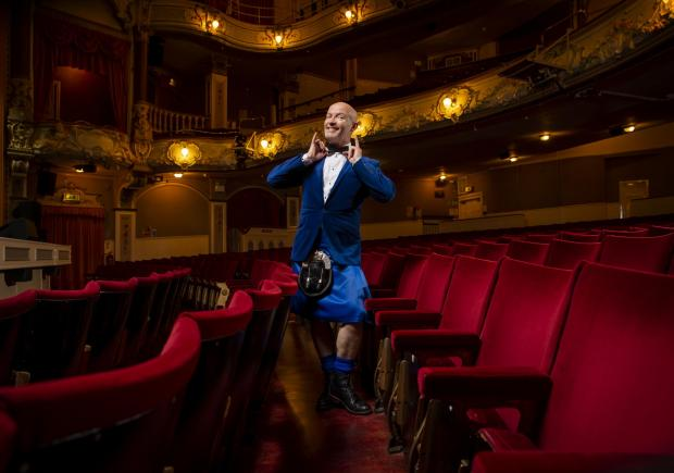 Glasgow Times: Comedian Craig Hill pictured at the Pavilion Theater in Glasgow where he will appear on Friday October 1st in his Pumped!  show ... Photograph by Colin Mearns. September 22, 2021 For GT, see the interview with Ann Fotheringham.
