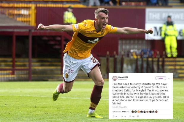 Is David Turnbull heading to Maryhill FC? Club joke over Celtic target