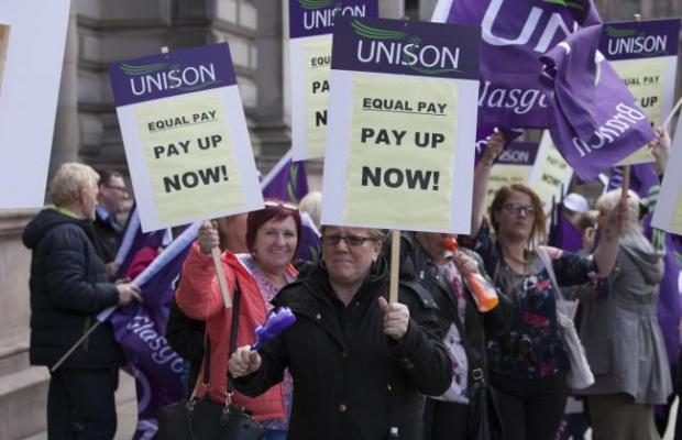 Glasgow equal pay: Thousands of women having chunks of compensation taken away to clear council tax debts