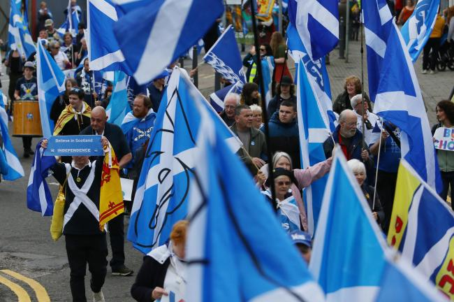 All Under One Banner march and rally, Oban...  Photograph by Colin Mearns.15 June 2019..