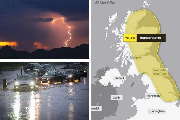 Glasgow told to brace for thunderstorms, travel issues and flooding