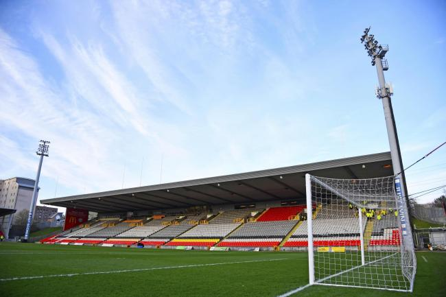 Partick Thistle's Firhill Stadium.