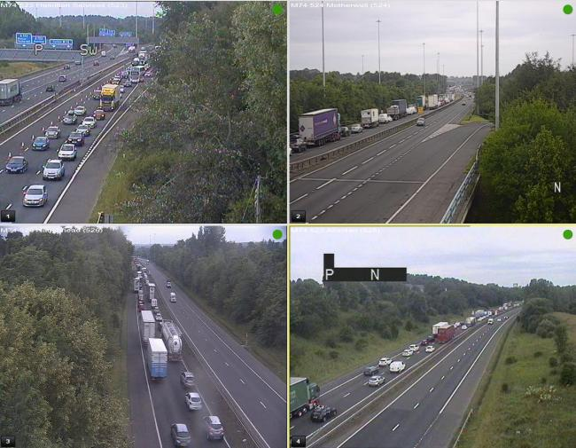 Things are looking busy on the M74 this morning (Traffic Scotland)