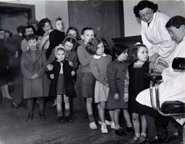 Smallpox vaccinations, 1950. Newsquest Media Group