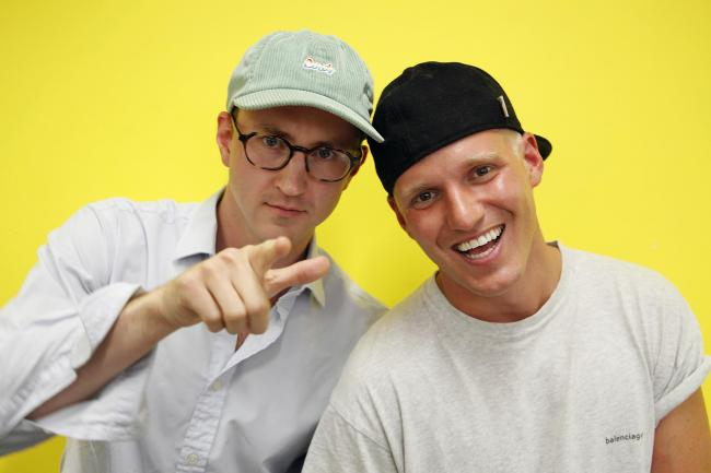 New Strictly recruit Jamie Laing with Francis Boulle.