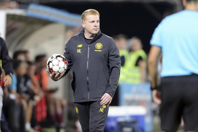 Celtic manager Neil Lennon in Romania on Wednesday. Picture: AP Photo/Mircea Rosca.