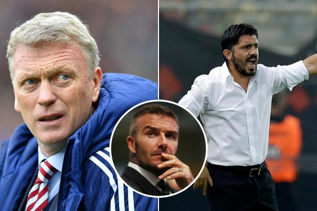 David Moyes and ex-Rangers star Gennaro Gattuso in mix to become first ever manager of David Beckham's new MLS franchise Inter Miami