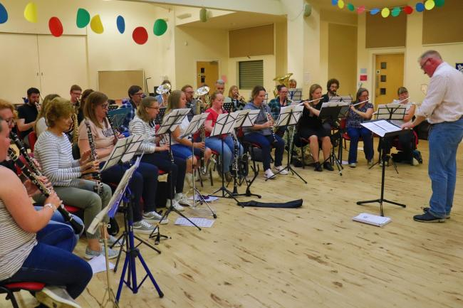 Glasgow Community Concert Band pictured at a recent practice session at Parkhead Congregational Church