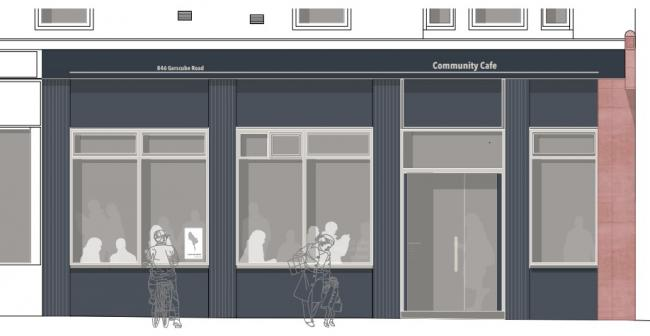 Plans have been submitted for a community cafe on Garscube Road