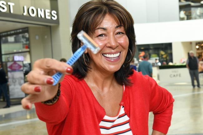 Anton's Mum gifted special razor by Silverburn Shopping Centre