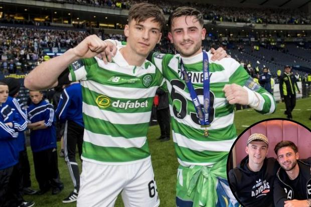 Arsenal star Kieran Tierney catches up with former Celtic teammate Patrick Roberts
