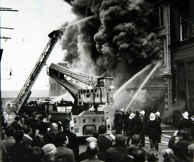 FIRE AT JAMES WATT STREET , GLASGOW .