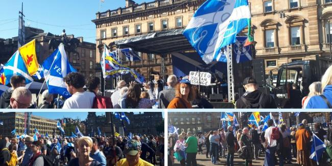 More than a thousand attend independence rally in George Square