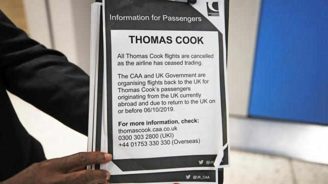 Almost 15,000 Thomas Cook customers brought back to UK on Monday
