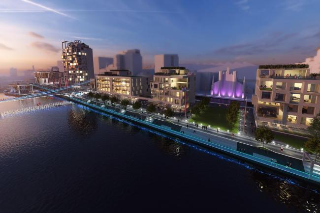 New artist's impression of how Custom House Quay could look