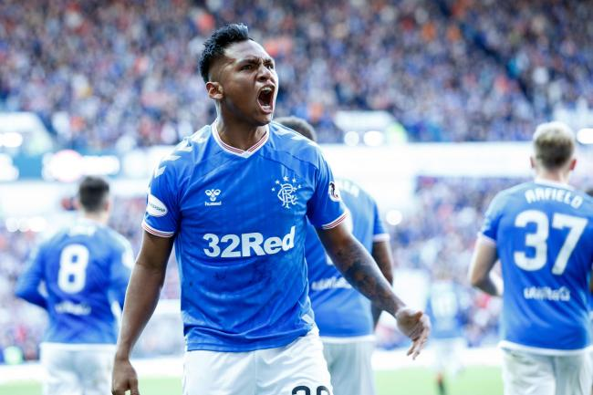 Alfredo Morelos joins fans in song from bench as Rangers maul Hamilton to go top of Premiership