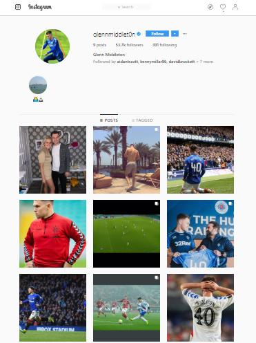 Glasgow Times: Middleton's Instagram has been wiped of Hibs posts