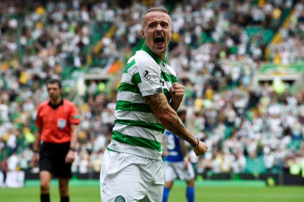 Celtic star Leigh Griffiths shares defiant message to doubters from Hoops training ground