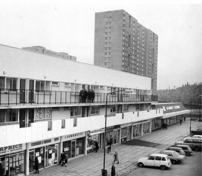 Sighthill Shopping  Centre in 1973