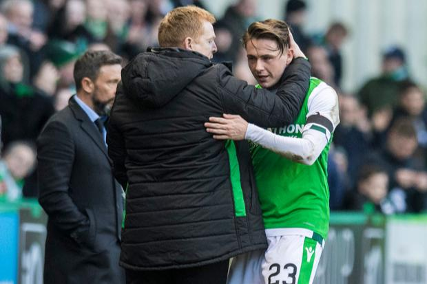 Scott Allan admits he loved to see Neil Lennon blow gasket as Hibs manager
