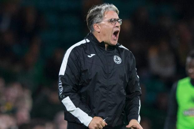 Partick Thistle boss Ian McCall wears Ayr Utd tracksuit bottoms to training leaving fans in stitches