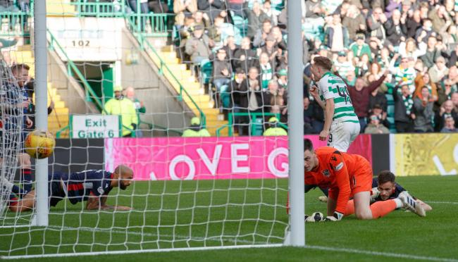 James Forrest scores for Celtic against Ross County. Picture: Steve Welsh/PA Wire.