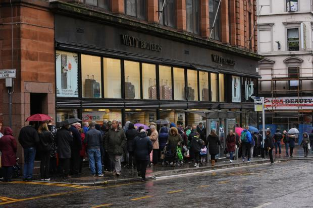 Queue outside Watt Brothers