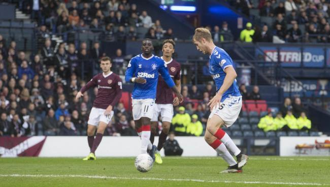 Rangers' Filip Helander scores his side's first goal of the game during the Betfred Cup Semi Final match at Hampden Park, Glasgow. PA Photo. Picture date: Saturday November 2, 2019. See PA story SOCCER Rangers. Photo credit should read: Jeff H