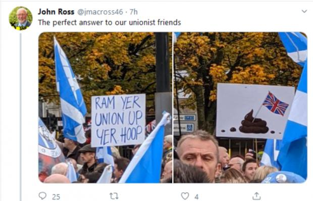 Glasgow Times: Mr Ross later deleted the tweet, but users were quick to screenshot it