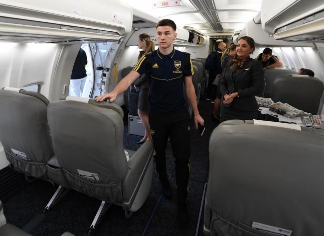 Kieran Tierney boards Arsenal flight to Vitoria away after club request he's left out of Scotland squad