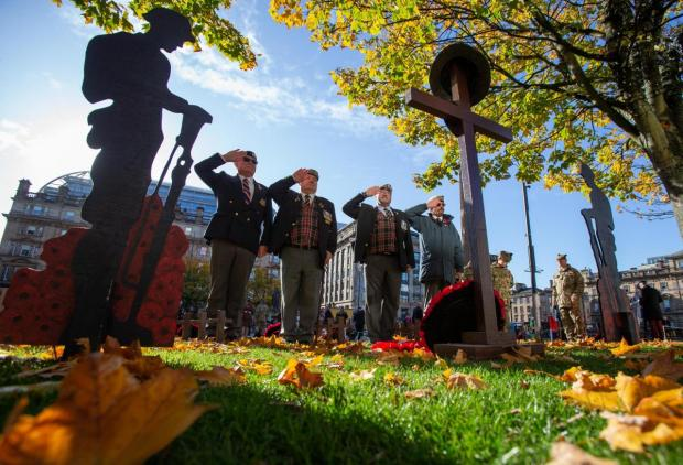 Glasgow Times: Glasgow's Garden of Remembrance opened in George Square at the end of October