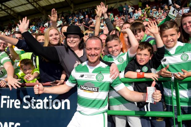 Hollywood star James McAvoy praises Neil Lennon after Italian Job win against Lazio