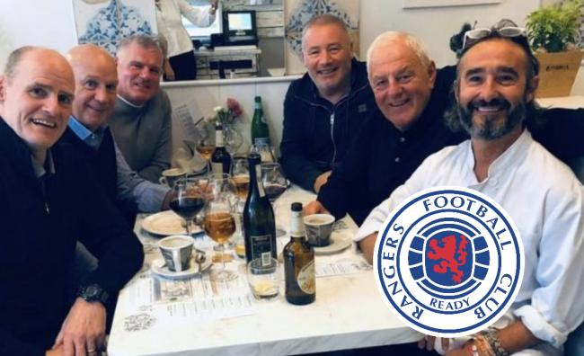 Rangers legends dine out together in West End restaurant
