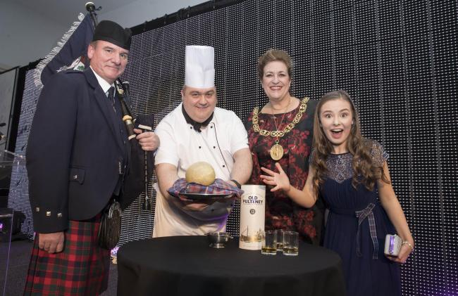 Former Lord Provost Eva Bolander at the 2018 Burns Supper