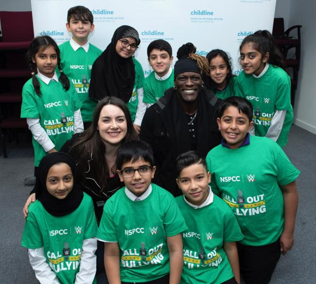 WWE and Childline Glasgow tag-team in anti-bullying campaign as hometown wrestler Nikki Cross and R-Truth meet local kids