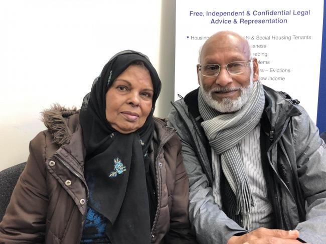 Undated handout photo of asylum seekers Khadija Anwar, from Kenya, and her husband Muhammad Anwar, from Pakistan. Around 150 asylum seekers denied the right to remain in the UK are facing eviction after losing a legal challenge over lock-changes.PA Photo