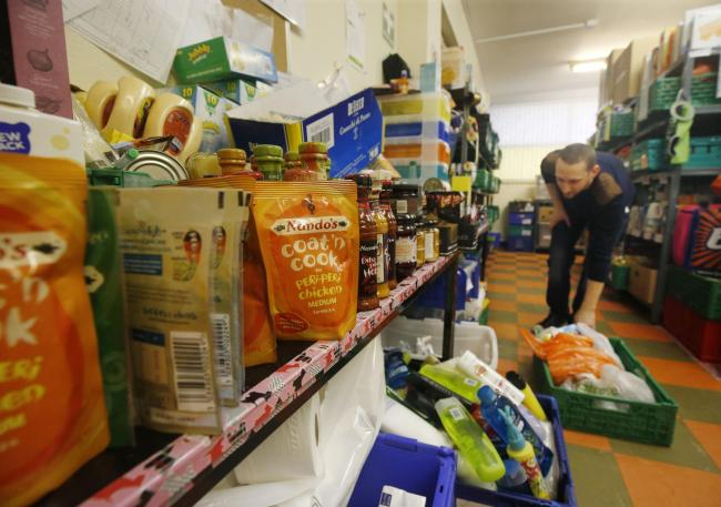 Embargoed to 0001 Wednesday November 29..File photo dated 21/09/15 of a Trussell Trust foodbank, as the charity, which runs hundreds of foodbanks, is appealing for public support as it gears up for its busiest Christmas so far. PRESS ASSOCIATION Photo. Is
