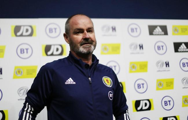 GLASGOW, SCOTLAND - NOVEMBER 18: Scotland Head Coach Steve Clarke is seen during a Scotland press conference ahead of their European Qualifying match against Kazakhstan at Oriam on November 18, 2019 in Edinburgh, Scotland. (Photo by Ian MacNicol/Getty Ima