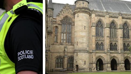 Officers are probing the attacks near the Glasgow University campus