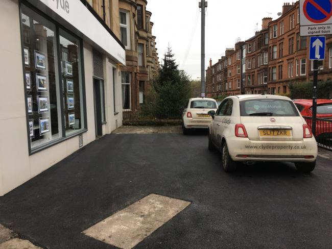 West End locals say Clyde Property's make-shift car park is blocking pedestrian access