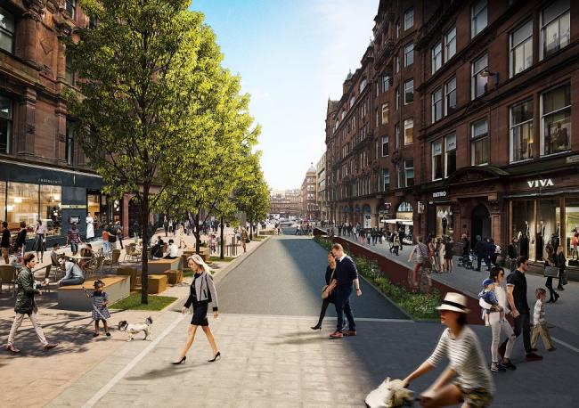 The new-look Bothwell Street under the plans