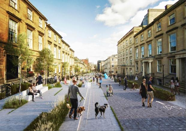 Glasgow Times: Plans for West George Street