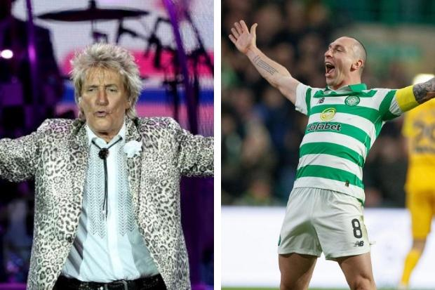 Celtic star Scott Brown and Lisbon Lions attend Rod Stewart's opening night at the Hydro