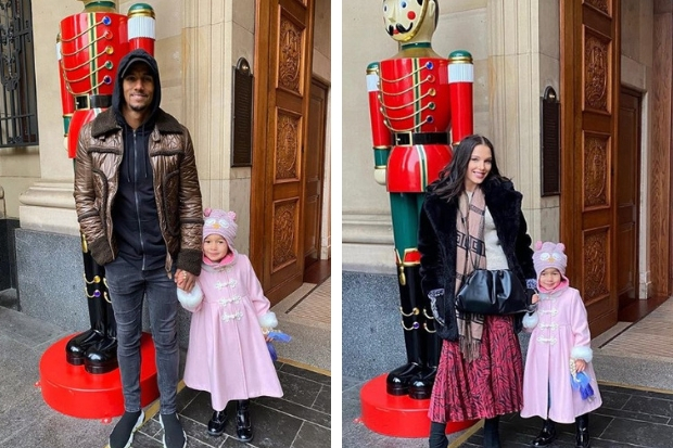 Celtic star Scott Sinclair and actress Helen Flanagan take in Christmas markets