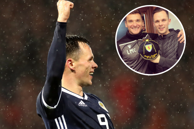 Lawrence Shankland pictured with first Scotland cap alongside Lee McCulloch