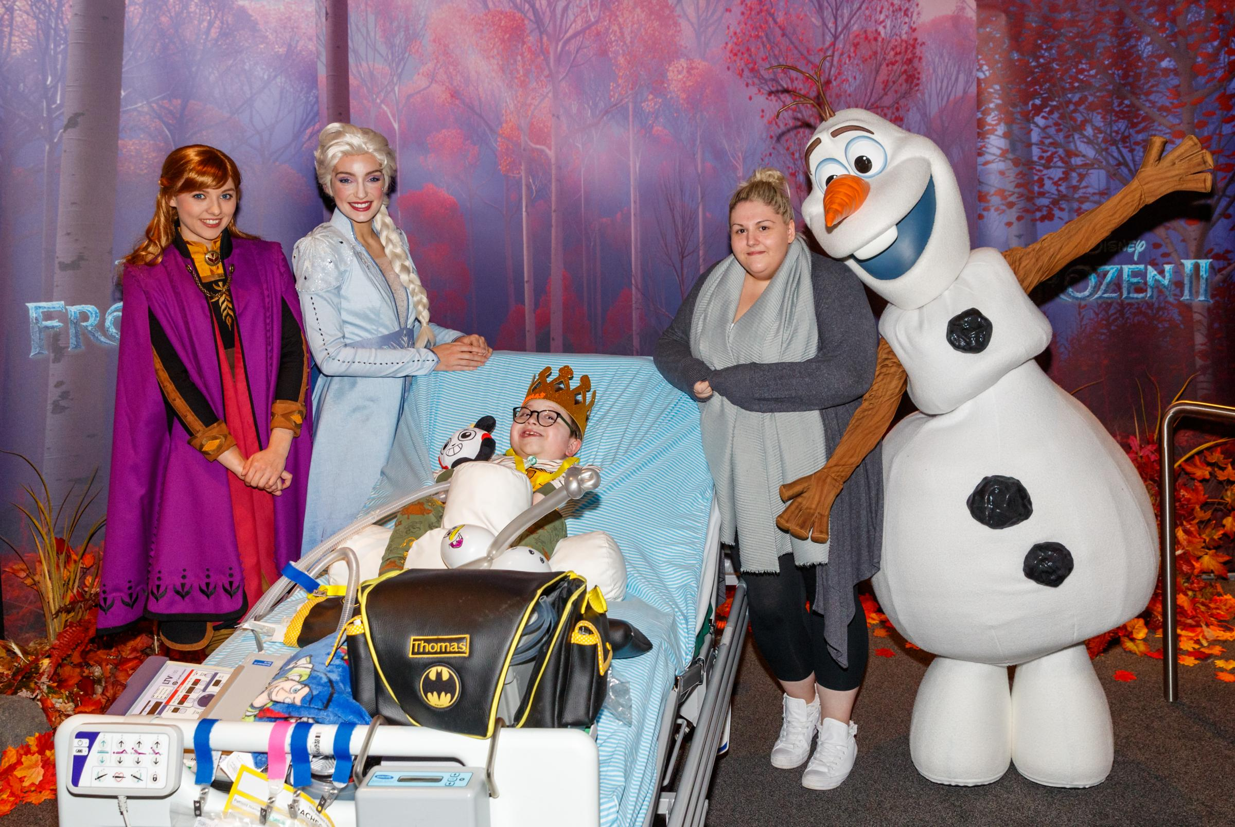 MediCinema at Glasgow hospital treats young patients to Frozen 2 screening