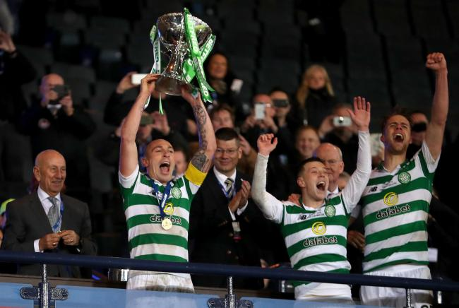 Celtic captain Scott Brown lifts 20th major trophy of his career as Celtic seal Cup Final win
