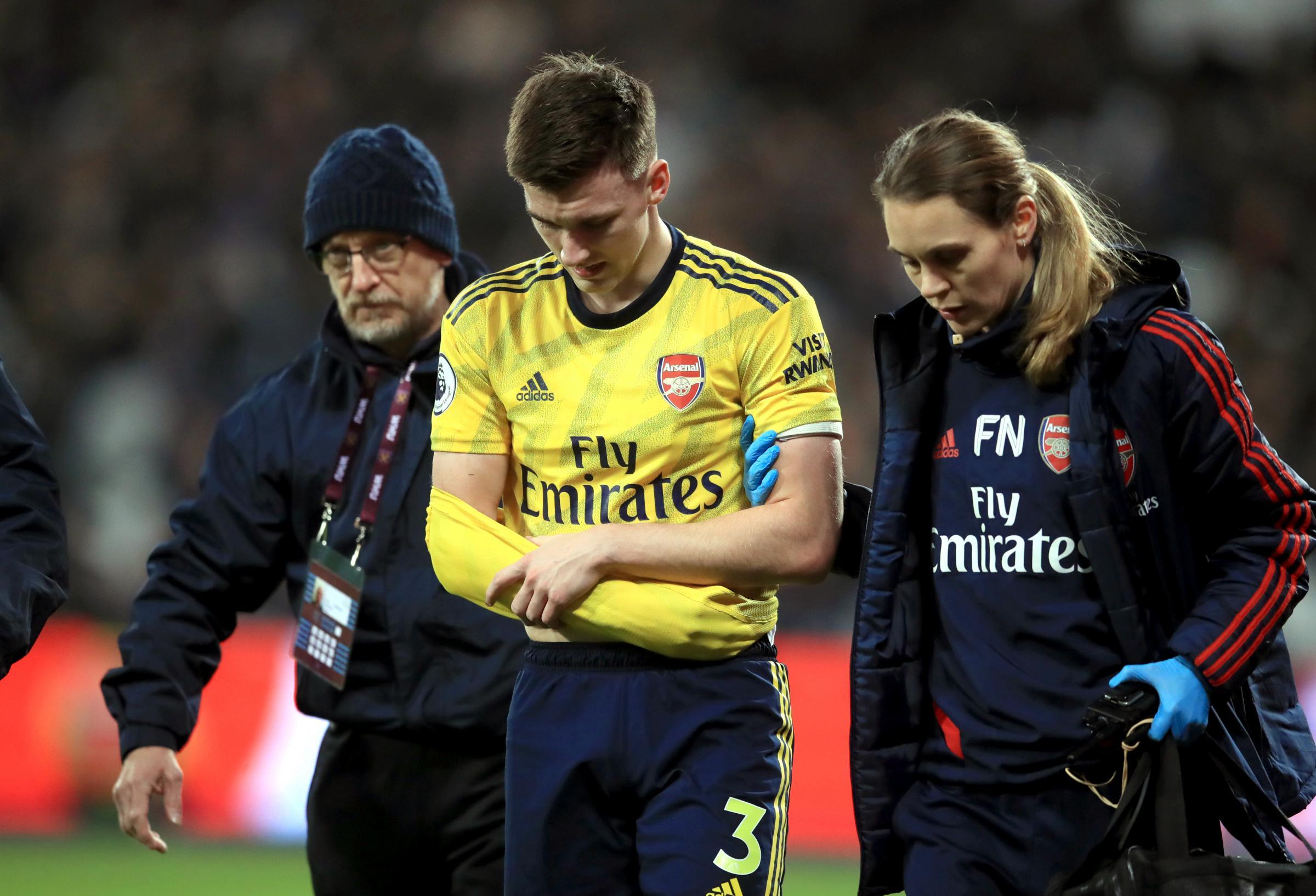 Arsenal's Kieran Tierney well ahead of schedule in return bid after shoulder injury
