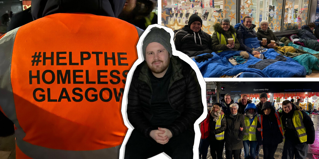Reporter Jack Aitchison spends a night on Glasgow's streets with volunteers from Help the Homeless