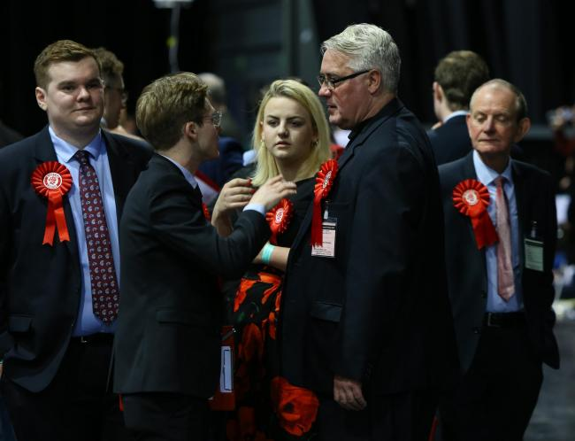 Vote count at the SEC, Glasgow for the UK Parliamentary general election. Frank McAveety, 2nd from right with Labour supporters....  Photograph by Colin Mearns.12 December 2019..